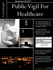 Public Vigil for Healthcare Poster
