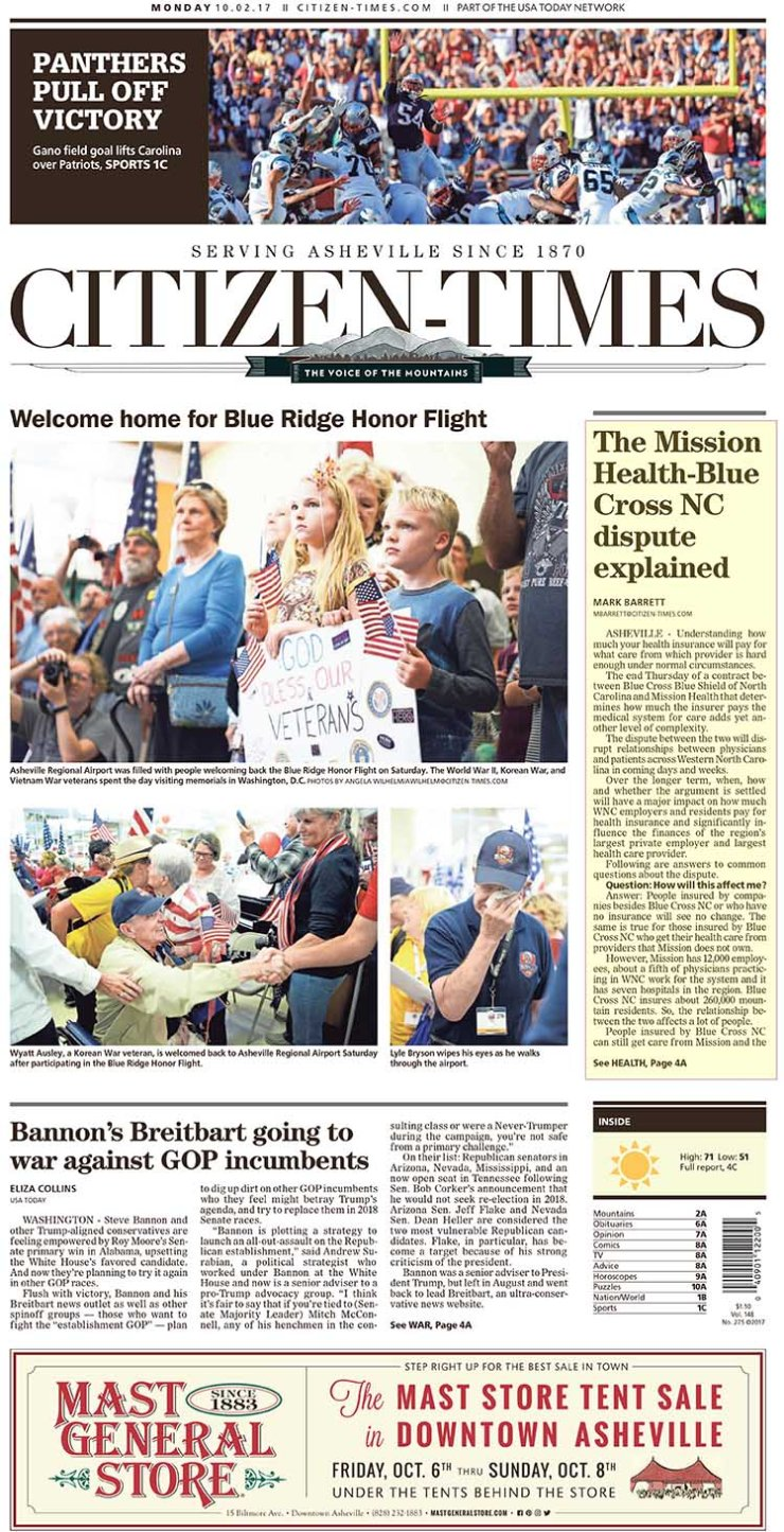 AshevilleCitizen-Times_20171002 Mission BCBS Dispute-1 72dpi with highlights