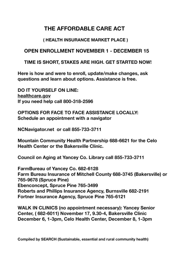 The Affordable Care Act (flyer)